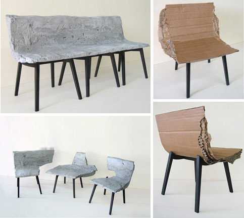 artistic-concrete-cardboard-chair-benches