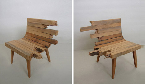 artistic-wooden-broken-bench
