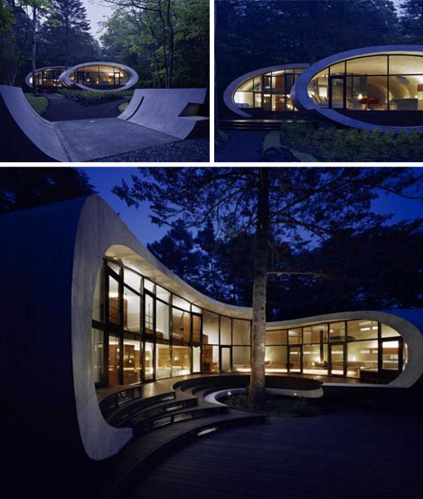 curved-house-at-night