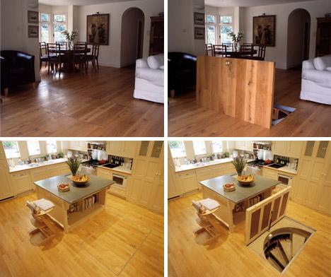 interior trap door designs