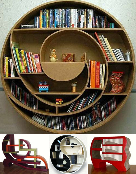 round-strange-bookcase-designs. On the actually-built side of things,