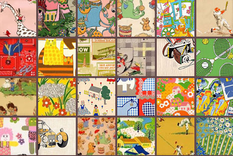 vintage-retro-funky-wallpaper-a. A childrens' favorite, their novelty set