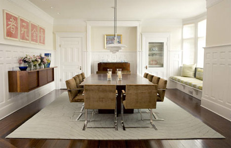 Lake House Plans Wood White Dining Rooms Coordinated Contrast