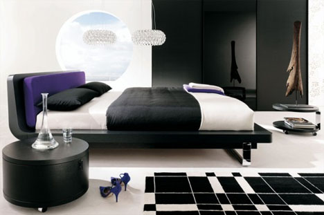 bedroom-black-white-design. Particularly in these modern minimalistic