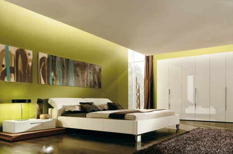 Creative Color: Minimalist Bedroom Interior Design Idea