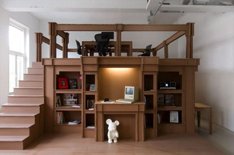 ... Cardboard: Creative Office Interior Design Design