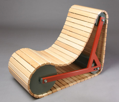 Fine Lookingblog Rolling Beats Rocking Clever Tank Tread Chair Evergreenethics Interior Chair Design Evergreenethicsorg