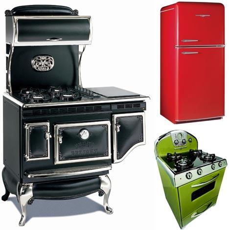 solar powered oven designs. retro-stove-refrigerator-oven-