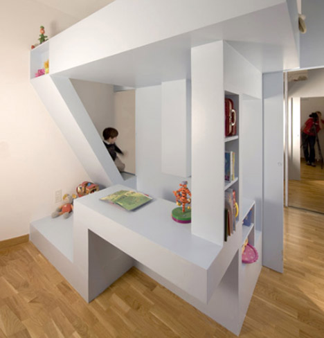 Childrens Bedroom on Ffffound    All In One Creative Children   S Bedroom   Playroom Design