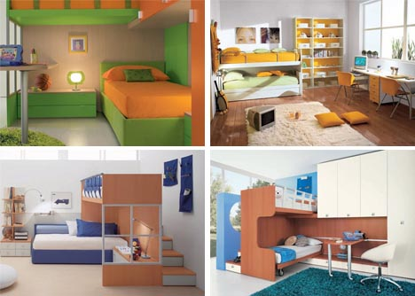 Interactive Interiors: Convertible Kids Bedroom Furnitu