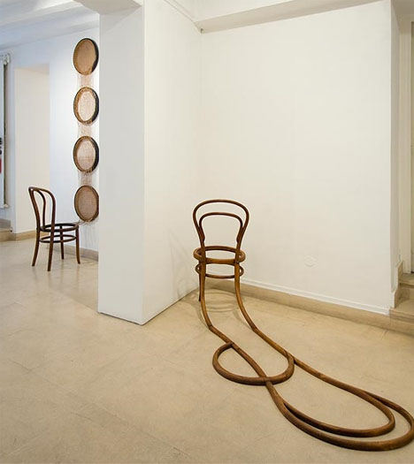 artistic chair installation art