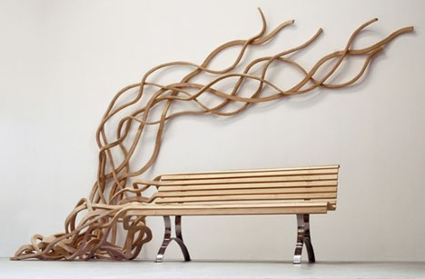 artistic wood bench design