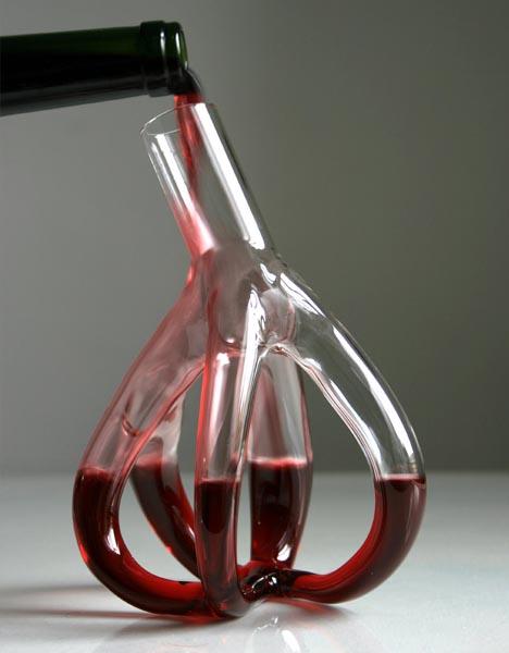 creative red wine glass