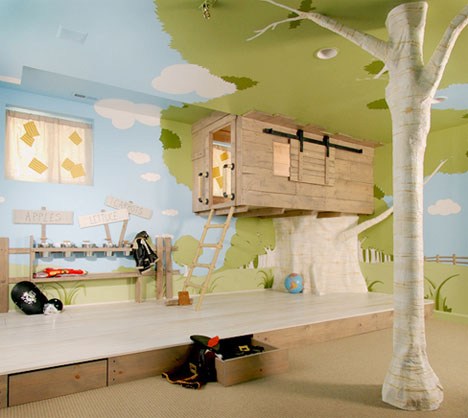 Kids Bedroom Designs on Cool Interior Tree Home  Best Kids Bedroom Design Ever