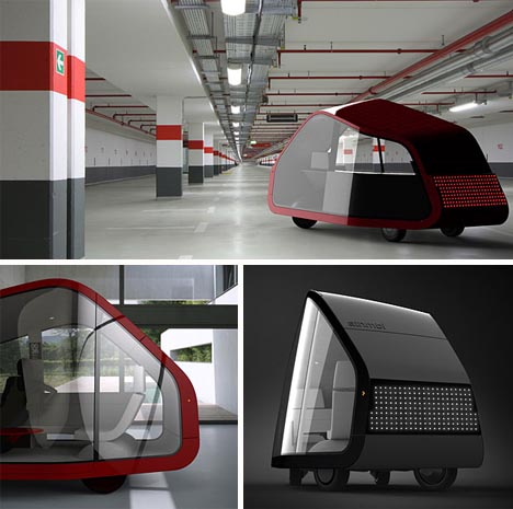 modern driverless mobile home