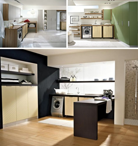modern laundry design idea