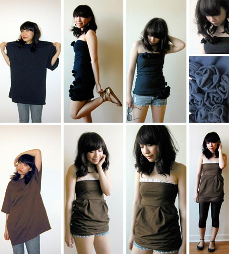 recycled clothing upcycling idea A baggy tshirt is one of the most