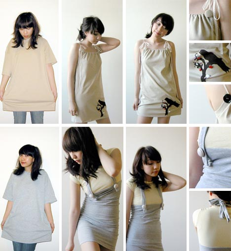 ... turning formless junk shirts clothes into elegant tops, bottoms and sexy ...