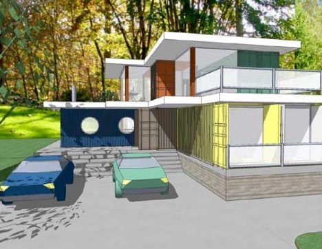 container housing plans. shipping container modern home