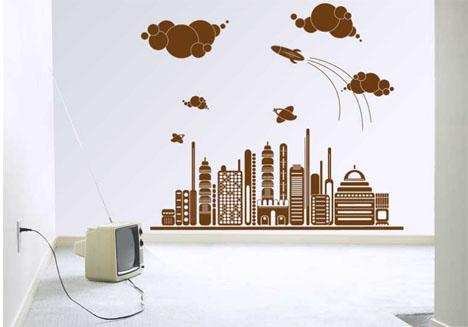wall sticker futuristic