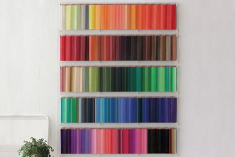 coloring pencil wall collection