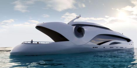 futuristic luxury houseboat design