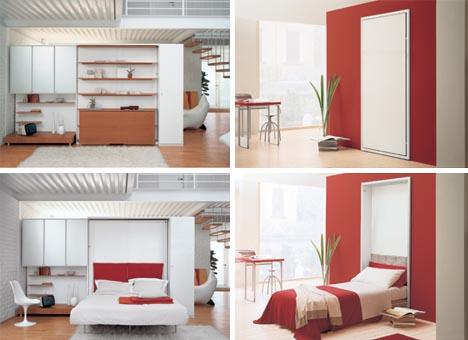 hidden fold down bed design