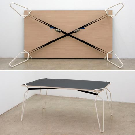 houses design diy table crutches transform flat surfaces