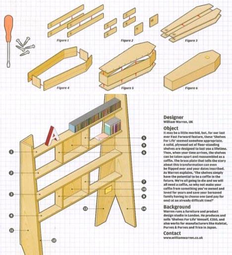bookcase diy wood coffin