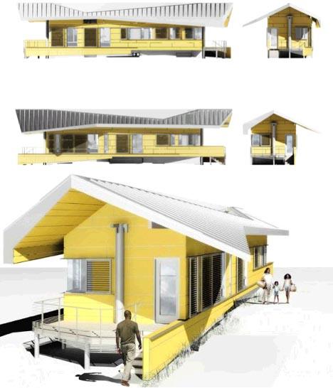 Versi 3D desain rumah anti-banjir