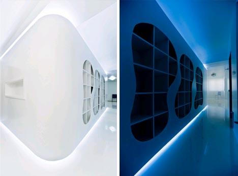 futuristic modernist minimalist apartment