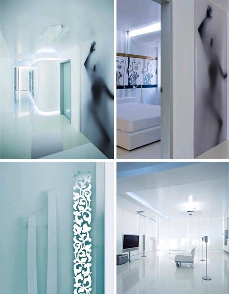 futuristic retro modern apartment