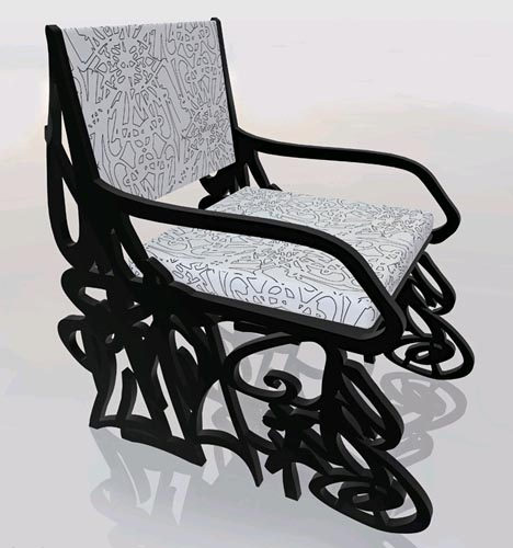 graffiti chair design Street graffiti has always been at the heart of