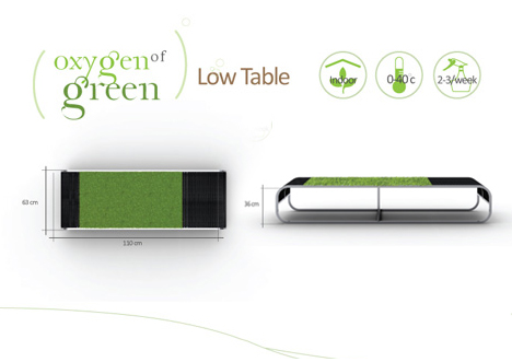 green coffee table design