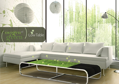 green eco friendly coffee table