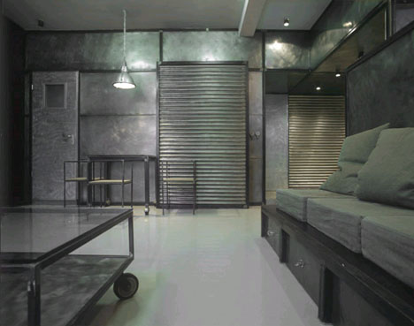industrial metal interior design