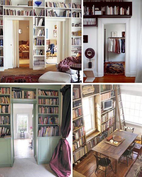 overhead built in bookcases