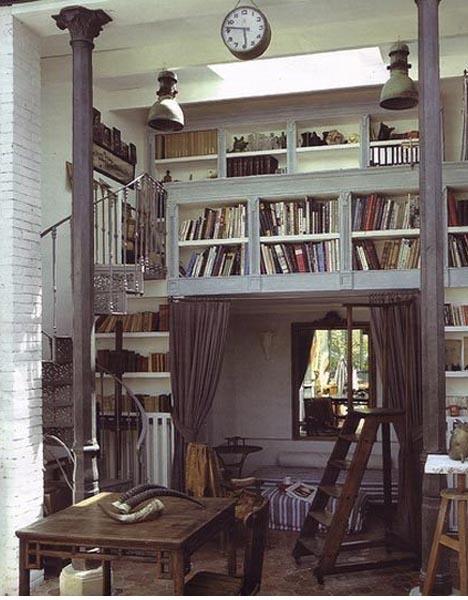 overhead wall bookshelves