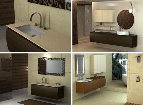 bathroom color brown