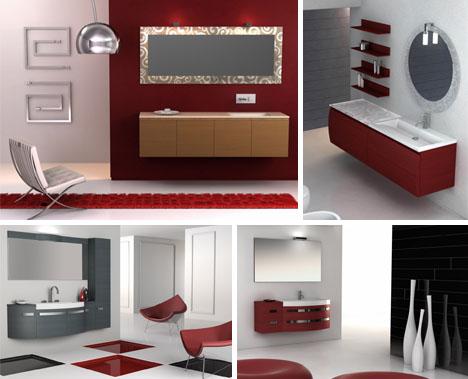 bathroom color red