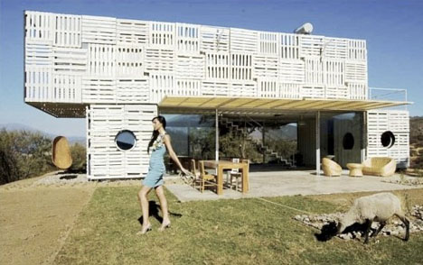 cargo container pallet home