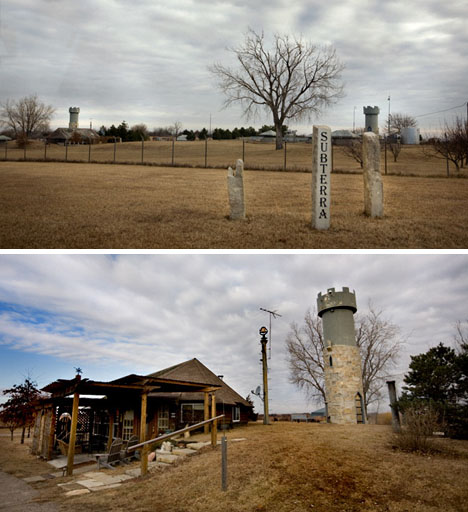 converted missile silo home. Occupying only a third of the nearly 20000