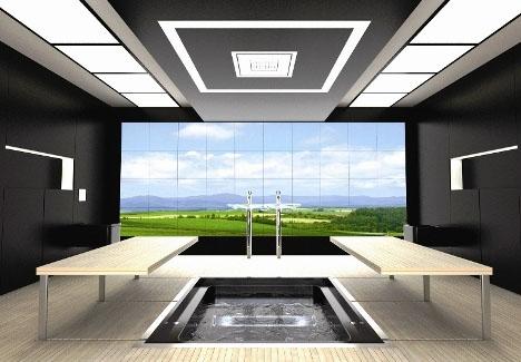 Futuristic Bathroom Layout High Tech E Saving Design
