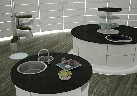 hidden kitchen dining room