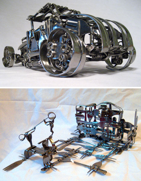 Recycling art and recycled