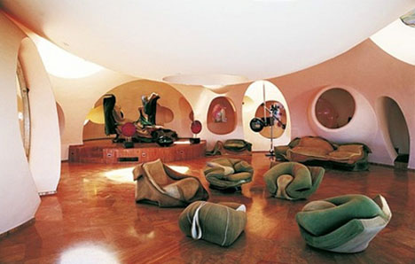 crazy home interior catalog. retro futuristic home interior Loftylovin  Crazy house