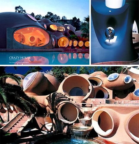retro futuristic modern home