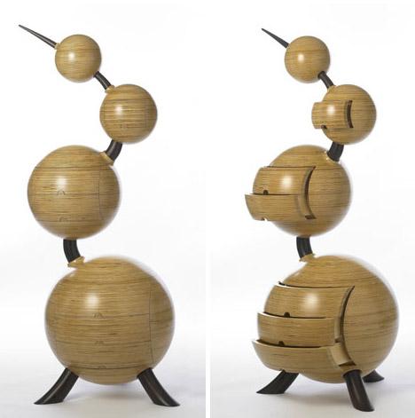 sculptured wood furniture storage