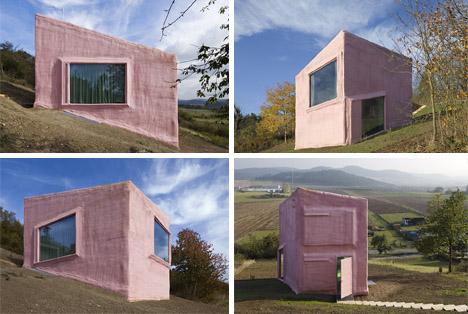sloped home hillside exterior