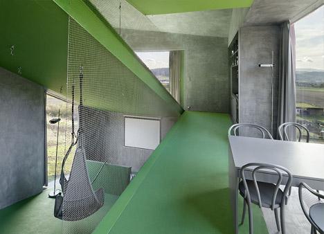 sloped home interior design